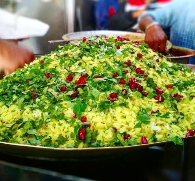"""IndoriFoodies on Twitter: """"Poha is jaan of Indore. So we start the day with  delicious USAL POHA of Head Sahab Ke Pohe,old Palasia, opposite Greater  Kailash Hospital. It opens only from 7–11"""