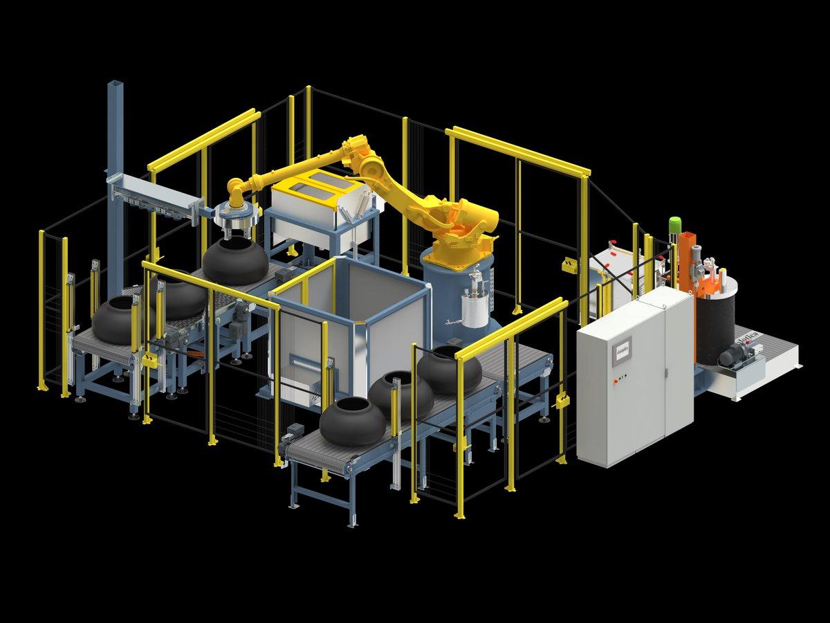 hight resolution of  robotassisted sprayingmachine wide variety of greentires coated materialhandling robotics automazione nokian apollotyres pirelli goodyear hankook
