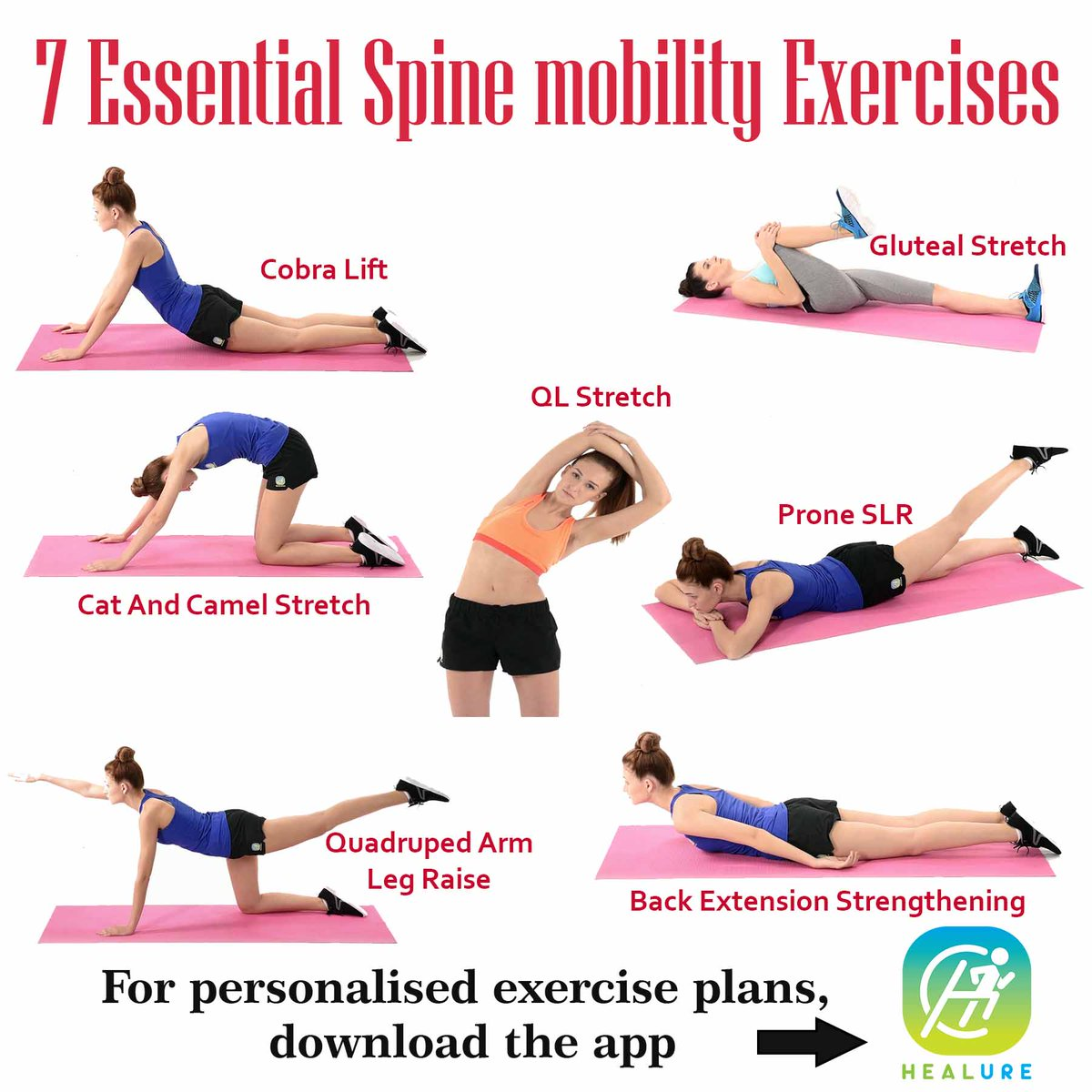 Healure On Twitter 7 Essential Spine Mobility Exercises