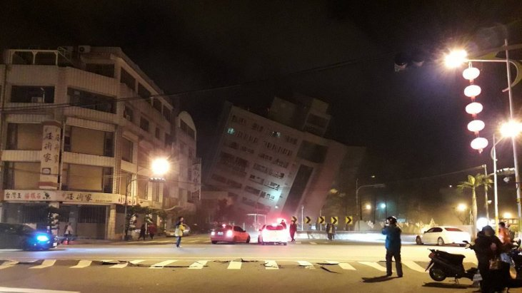 Image result for Earthquake Hits Taiwan Leaving 6 Dead and 76 Missing