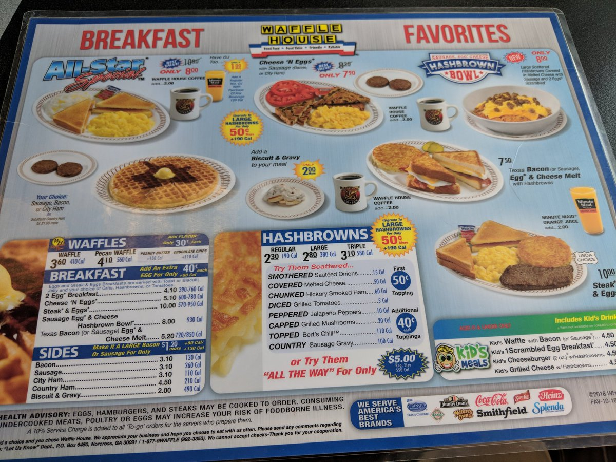 Brennan Dunn On Twitter The Waffle House Menu UX Is The Worst