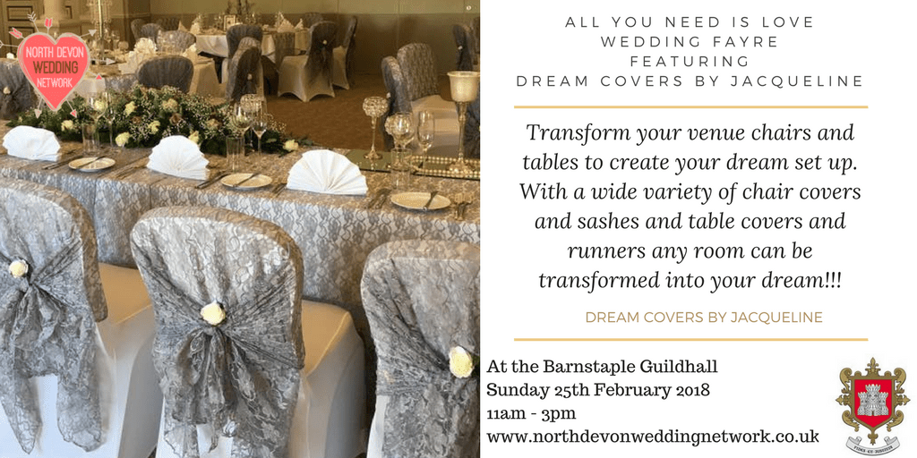 wedding chair covers devon dark blue patio cushions north network on twitter tablerunners chairsashes all you need is love fayre barumtc barnstaple guildhall s sunday 25th february