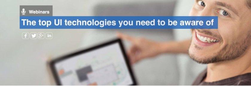 The top UI technologies you ned to be aware of   #UI #angular4 #reactjs #CSS