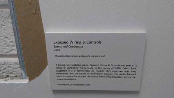 Art Gallery Exhibit Label