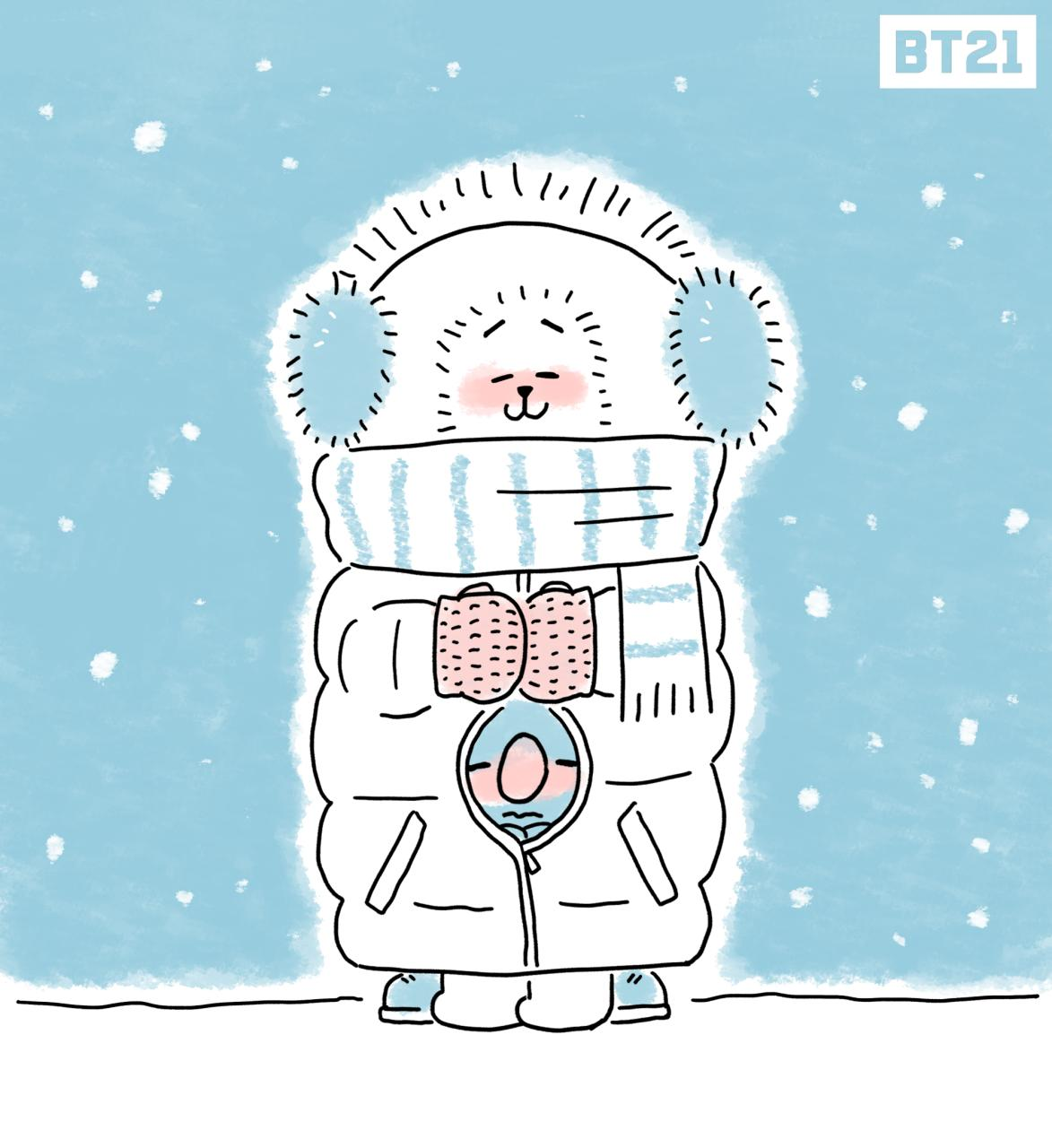 Jin Bts Cute Wallpaper Picture Bt21 Winter Is Not Over Rj 180226