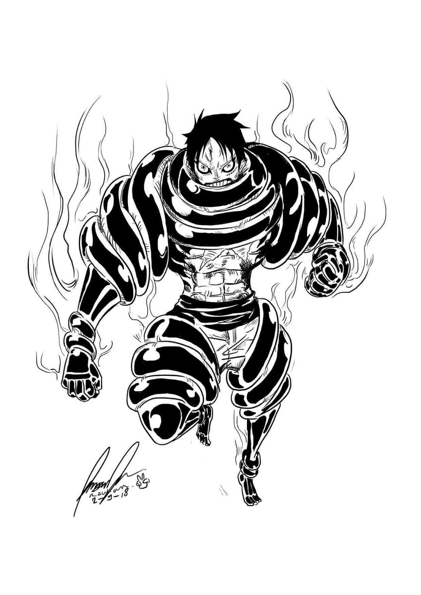 The one piece team is the the luffy 5 passionate group. Tobagokid88 On Twitter Tag The Artist Luffy Gear5 Snakeman Manga Anime Bestoneyet Onepiece