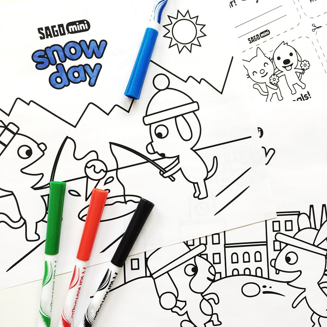 Several Mini Coloring Pages Printable