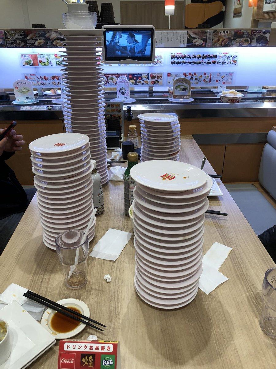 test ツイッターメディア - かっぱ寿司の食べ放題! 友達が41枚いっててやばいw 私は22枚でした https://t.co/vWZw13Neje