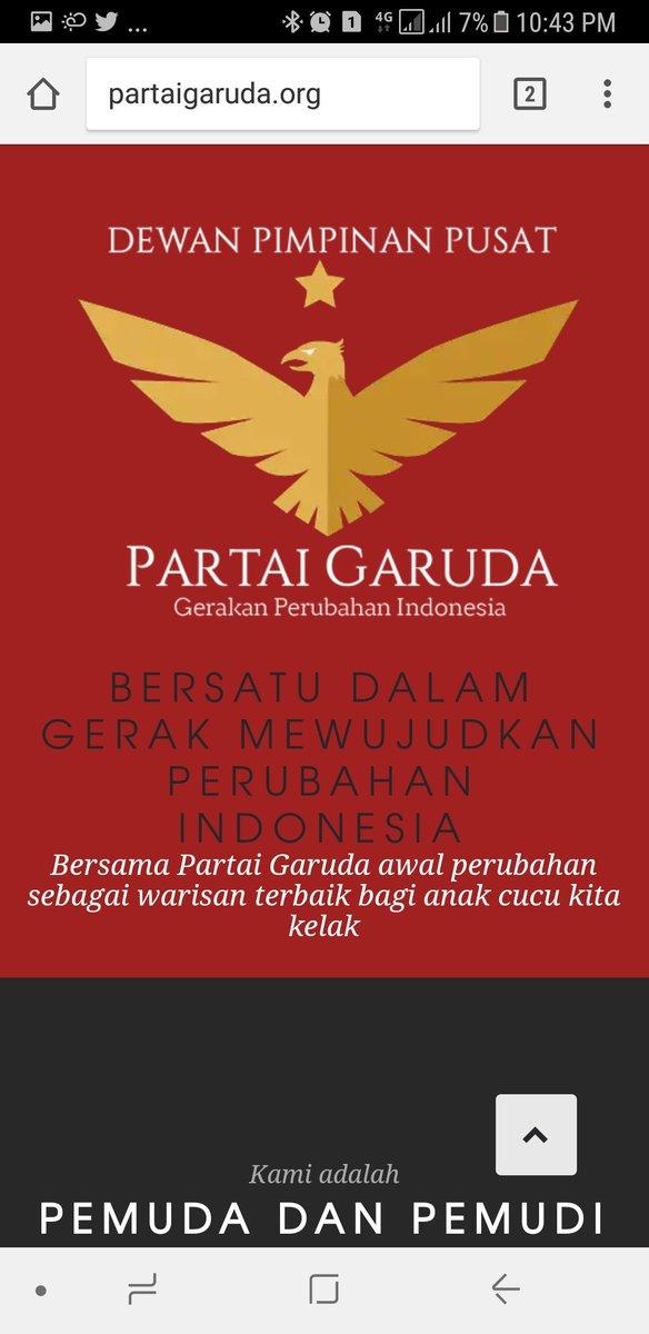 Partai Garuda Logo : partai, garuda, Mouldie, Satria, Twitter,