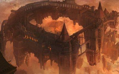 Medieval Fantasy City Art 6
