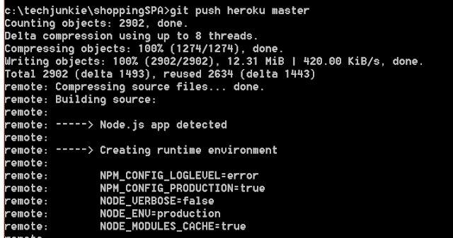 Tech Junkie Blog: #angularjs  SPA Part 12: Deploy Shopping List Application To Heroku