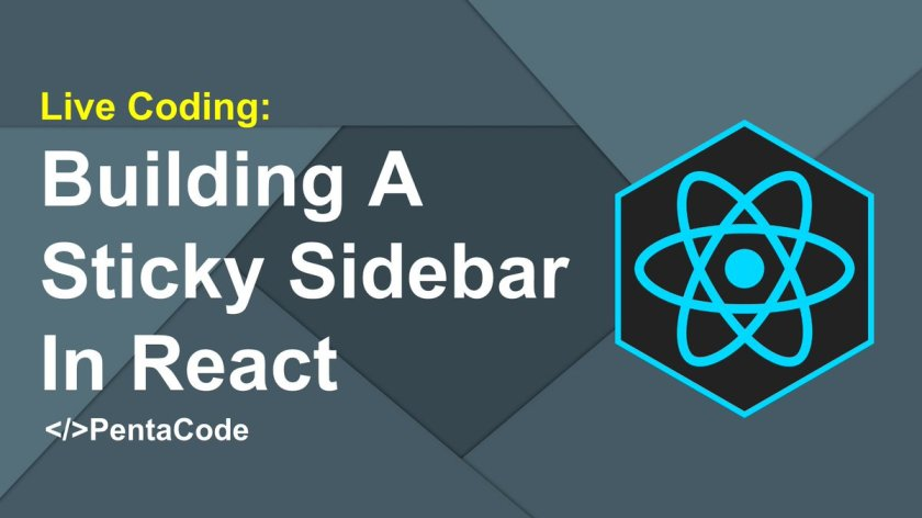Building A Sticky Sidebar In React  #reactjs #webdev #javascript