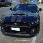 Ford Mustang Gt Black With Red Stripes Supercars Gallery