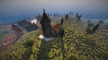 Small Minecraft Church 6