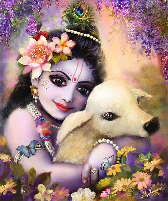 Krishna hugging calf - Top 10 Lord Krishna Images