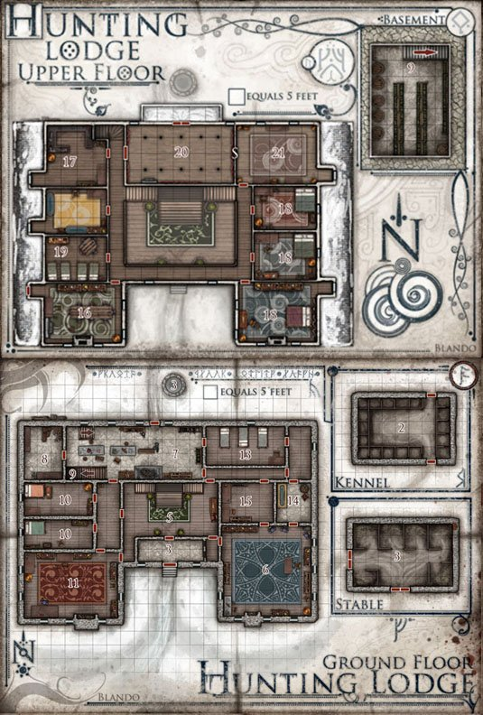 Hoard Of The Dragon Queen Hunting Lodge Map : hoard, dragon, queen, hunting, lodge, Jared, Blando, Twitter:,