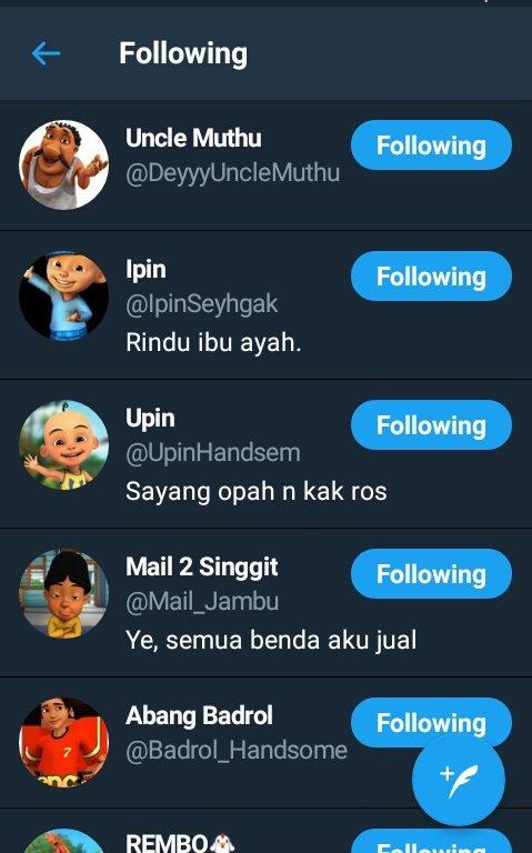 Upin Ipin Rindu Opah : rindu, Ms_ver, (@miss_vernissa), Twitter