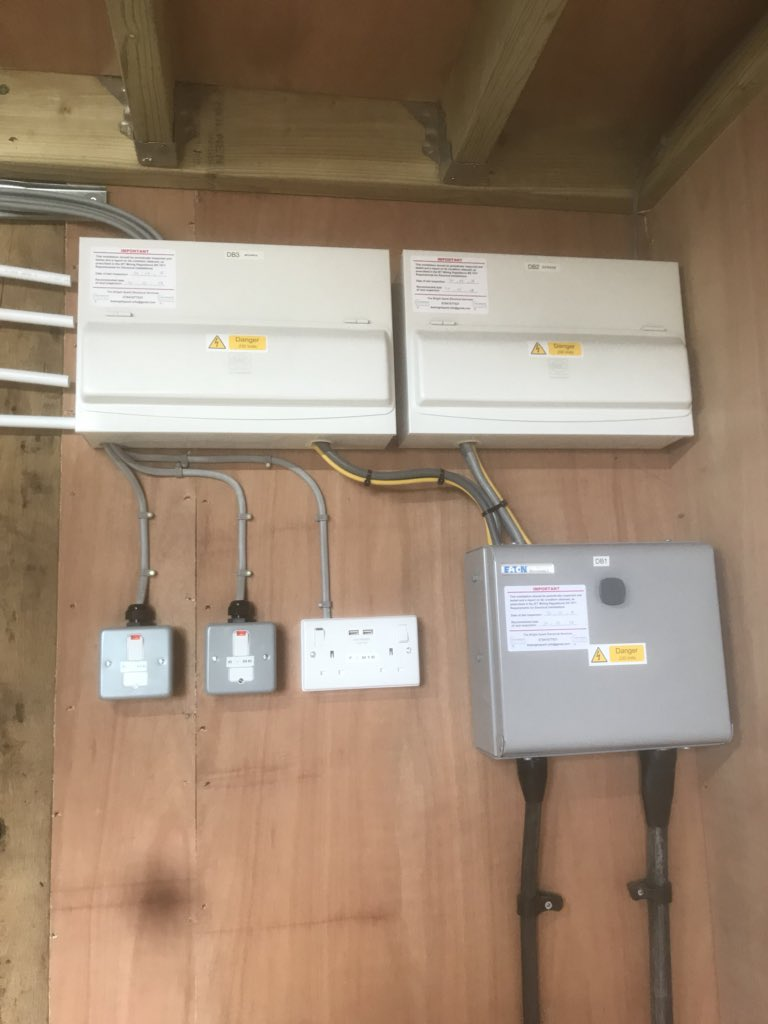 medium resolution of separate plant room for solar pv controls and ground source heating within the house thebrightsparkelectricalservicespic twitter com pvrkt54qkz