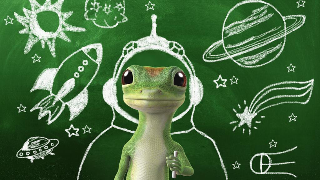 the geico gecko on