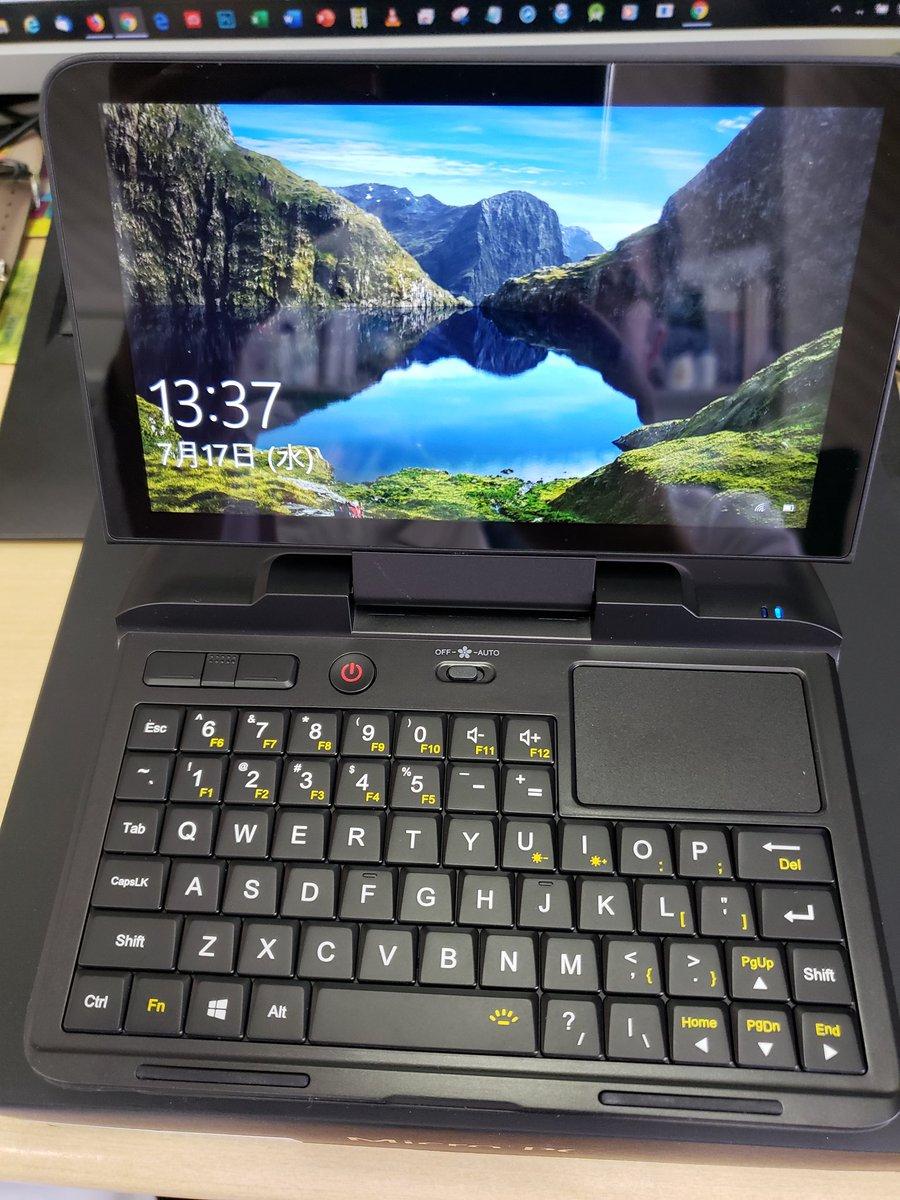 test ツイッターメディア - GPDポケットが来た。マジ持ち歩きしやすくキーボード親指打ちしやすい。本当の意味でのポケッタブルPCの再来だな。 タッチスクリーン(なくてもいい)と間違えやすいのと結構熱くなるのは欠点か。タッチパッドはかなり使いやすい。これは素敵。 https://t.co/l1YXefeuzU