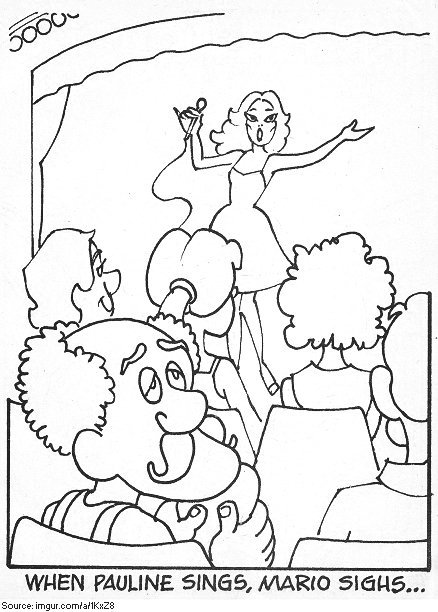 Original DONKEY KONG Coloring Book Introduced Us To A Bald
