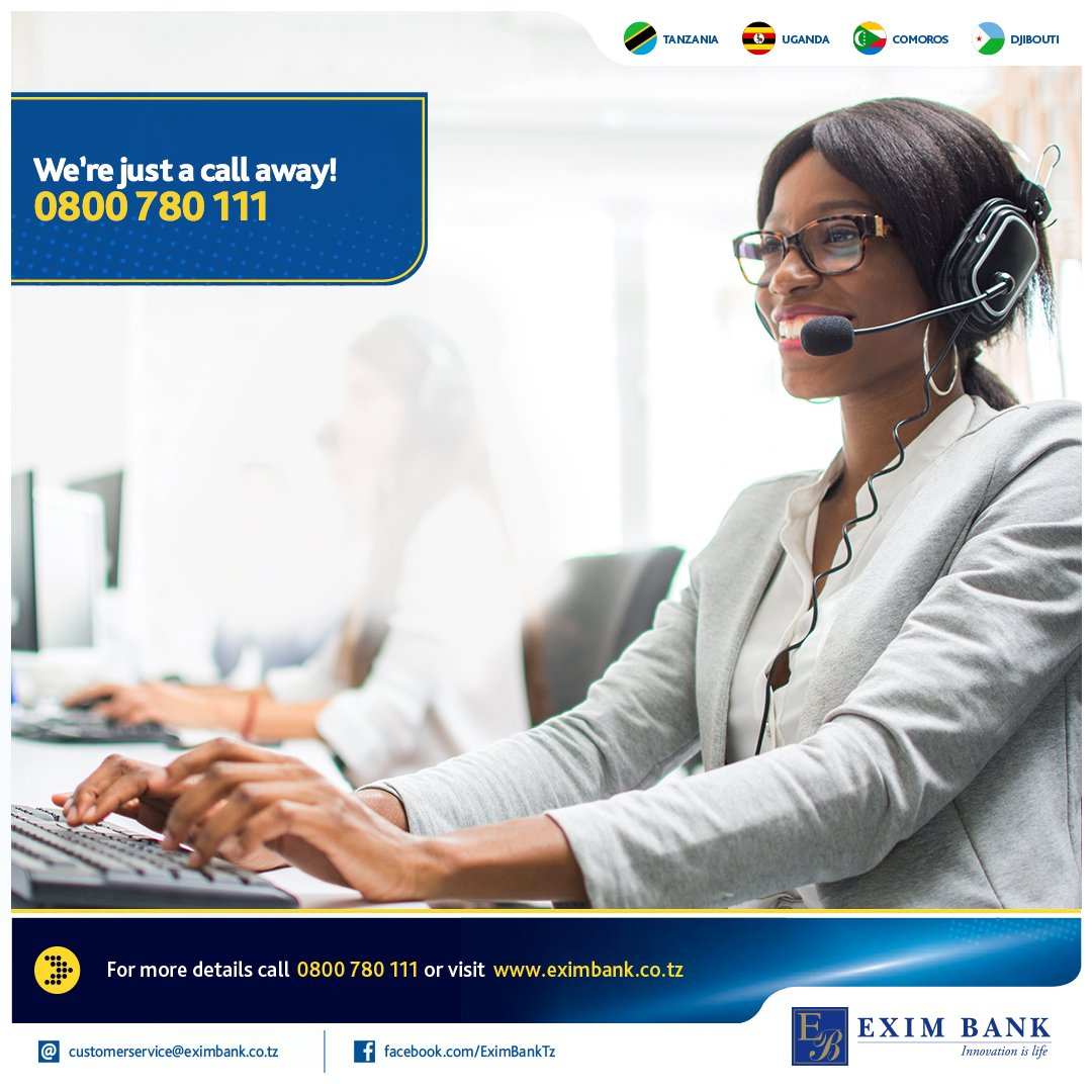 Exim Bank Tanzania On Twitter You Need To Know More About Exim Online Banking We Would Be Glad To Help You All The Way Give Us A Free Call Via 0800 780