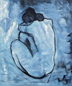 《La Malinconia è della Bellezza la nobile compagna. Non so concepire un tipo di bellezza che non abbia in sé il dolore》 Baudelaire - Opere Postume #NatiOggi #9aprile #IncantoEpoesia @LetturArte #Art #Picasso Nudo Blu @mariadicuonzo1 @MolininiN @Giusy_13Lab