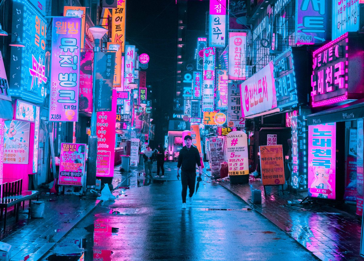 Anime Girl With Umbrellas In Rain Wallpaper Steve Roe On Twitter Quot Alone At Night Https T Co