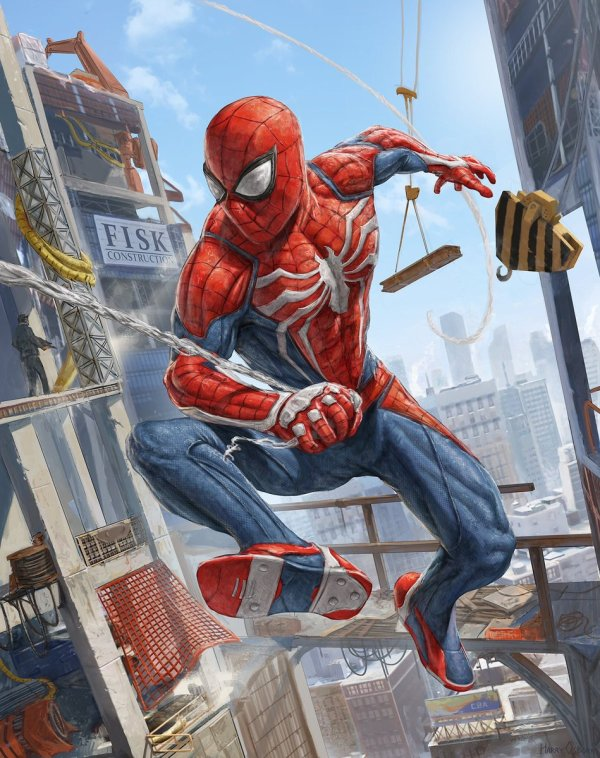 """Insomniac Games Twitter """"incredible #spidermanps4 #"""