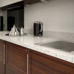 Red And Gray Ltd On Twitter A Contemporary Modern Kitchen With Dark Walnut Doors And A Granite Worktop Finished Off With Stainless Steel Handles Kitchenrender Cameo Https T Co 6fvl8xf4fn