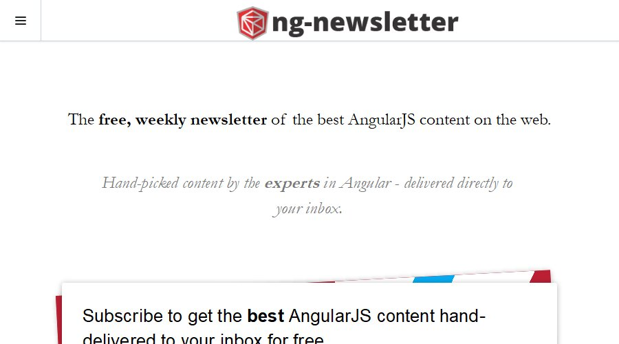 .@ngnewsletter curates and sends you the best #angularjs content every week
