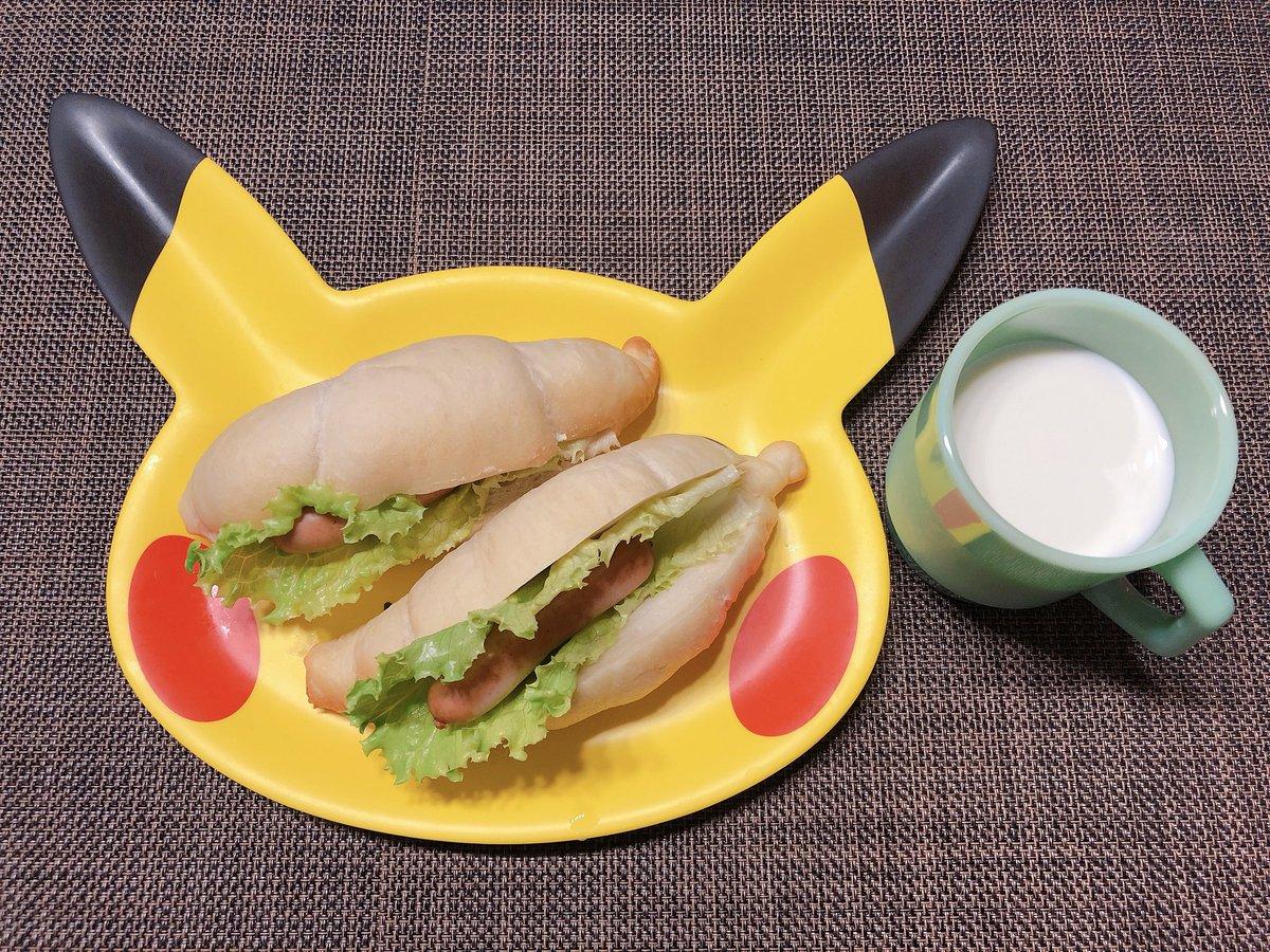 test ツイッターメディア - ポケモンカフェのピカチュー皿はとてもでかいので2人分の朝食などをザッと乗せられる👍 https://t.co/4mhTTPk4vZ