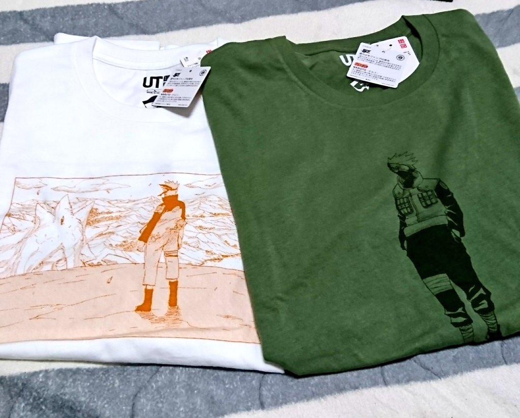 test ツイッターメディア - 結局、この2枚だけ買いました。 「師弟の絆」Tシャツは、いつ入荷するか不明なので、ちょこちょこユニクロオンラインをチェックするしかないなぁ(ToT) 白Tシャツの背中はサスケ。 素敵なんだけど白Tは着にくい(膨張色)(笑) https://t.co/x2ZD7l4MmF
