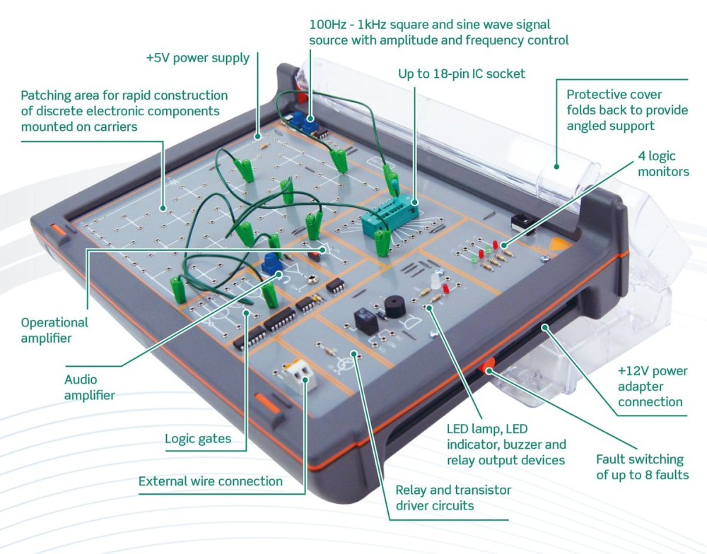 medium resolution of the set includes an electronics trainer circuit design software and student resource packs that combine to provide an exciting range of design and build