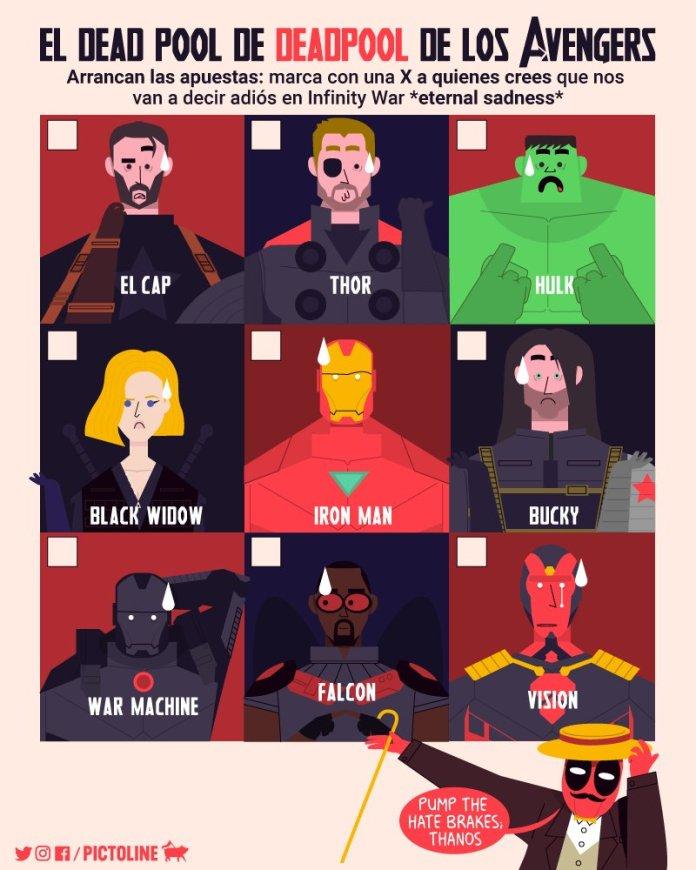 ¿Quienes mueren en Infinity WaR?