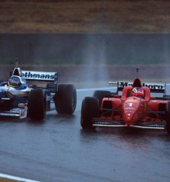 sutton images by motorsport images on twitter michael schumacher securing his first victory for scuderiaferrari at the 1996 spanish grand prix f1  [ 1200 x 776 Pixel ]