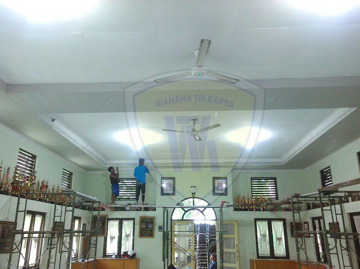 memasang plafon baja ringan wahanatrikarya on twitter jasa aplikator galvalume galvalum