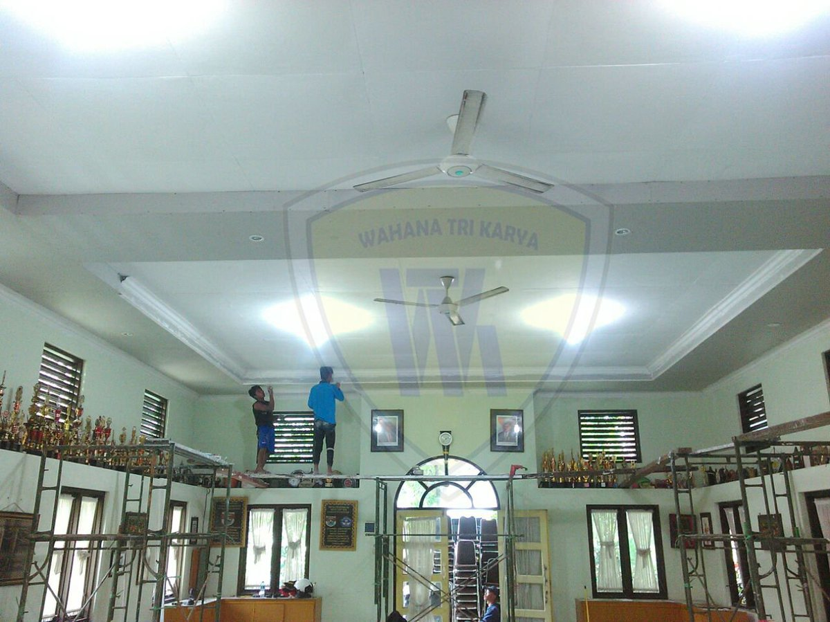 pasang plafon baja ringan wahanatrikarya on twitter jasa aplikator galvalume galvalum