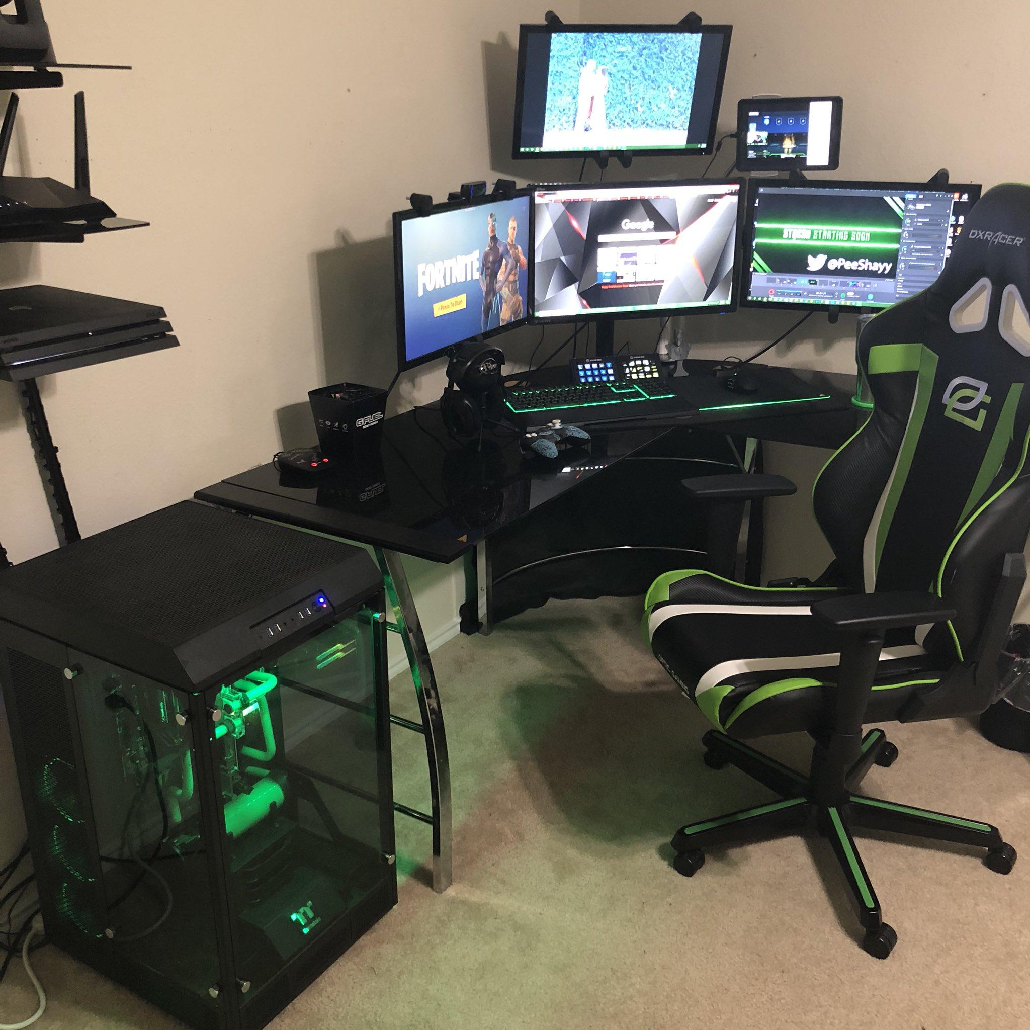 Pete PeeShay Webb on Twitter New gaming room setup