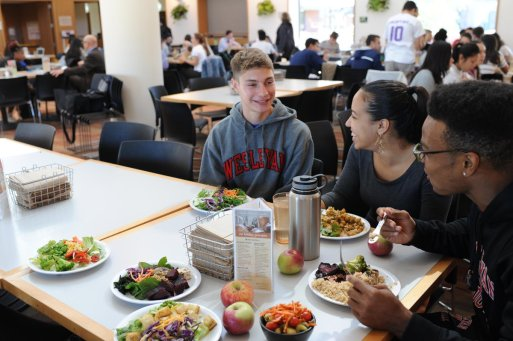 "Wesleyan University on Twitter: ""We were named a top 10 College With Plenty of #Vegan Options by @OneGreenPlanet! Every other Tuesday, Usdan Marketplace goes 100% #vegetarian (""Veg Out Tuesday"") and daily menus"