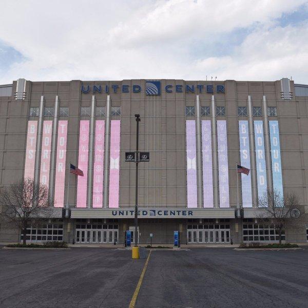 "United Center Twitter ""retweet ' Excited Bts Twt In Chicago"