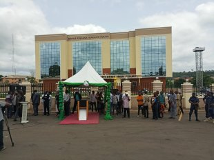 Image result for Fayose inaugurates new Court Complex in Ado Ekiti