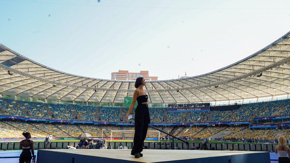 Dua Lipa is in Kiev for the Champions League final