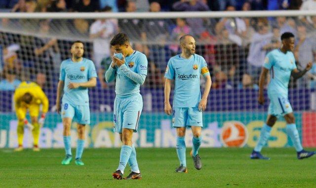 ليفانتي يوقف سلسلة اللاهزيمة لبرشلونة 25