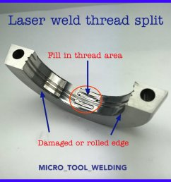we used the laser welding process to fill in the thread area on this highly polished molding surface microtoolwelding laserwelding microlaserwelding  [ 1200 x 1200 Pixel ]