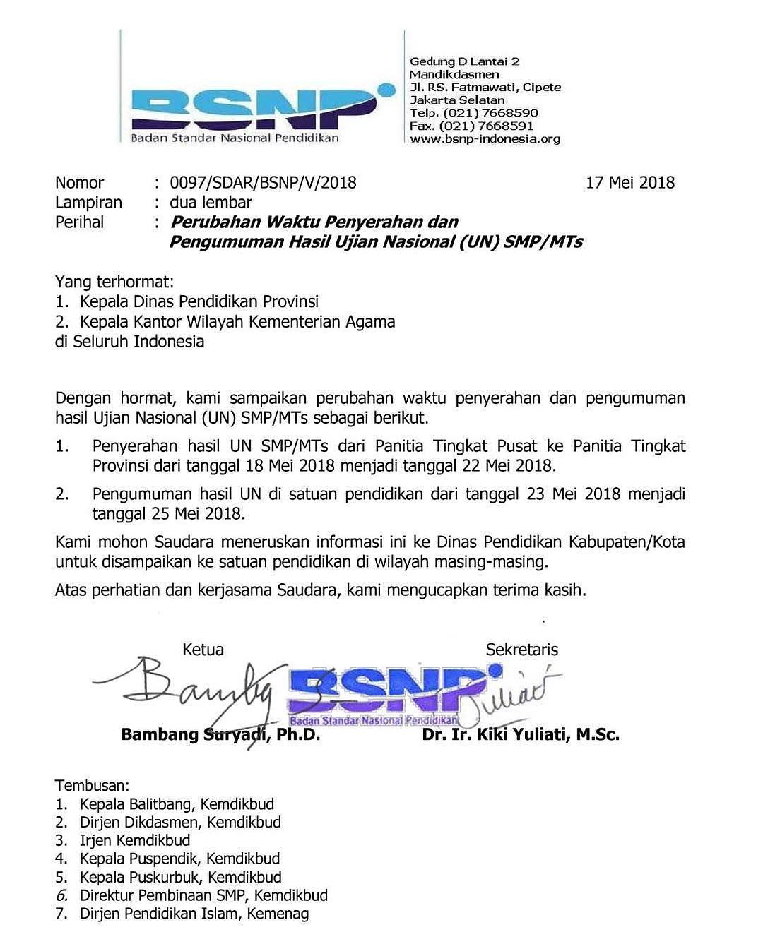 Hasil Ujian Nasional Smp 2018 : hasil, ujian, nasional, Kabupaten, Lumajang, على, تويتر:,