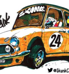 drawing cars with skunk on twitter minicooper rally drawing promarkers for drawingcars youtube channel  [ 1200 x 675 Pixel ]