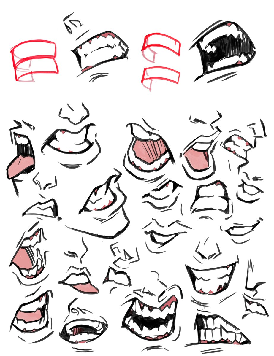 Boy Mouth Drawing : mouth, drawing, Picolo, Twitter:,