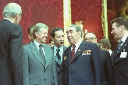 """OurPresidents on Twitter: """"President Jimmy Carter and General Secretary Leonid  Brezhnev signed the SALT II strategic arms limitation treaty between the  U.S. and the U.S.S.R. #OTD, June 18, 1979. @CarterLibrary:  https://t.co/g7435qZr7c ?:"""