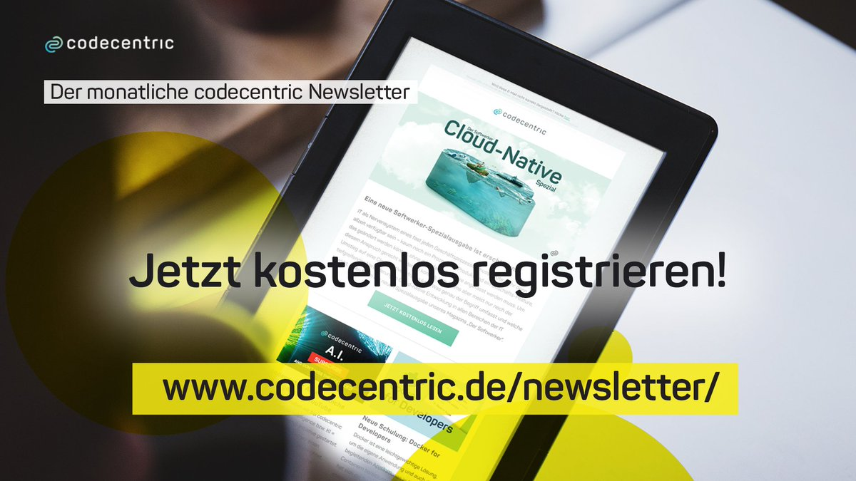"codecentric AG on Twitter: ""✨ Bewährtes Format, frisches Design"